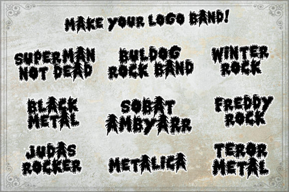 Horror Metal Font Design Item