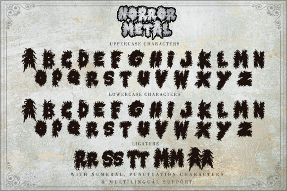 Horror Metal Font Downloadable Digital File