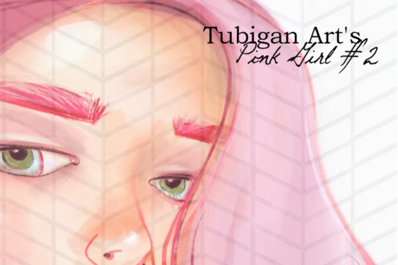 Print on Demand: Illustration of a Girl in Pink Artsy Graphic Illustrations By Tubiganart - Image 2