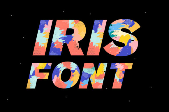 Print on Demand: Iris Color Fonts Font By yai.salinas