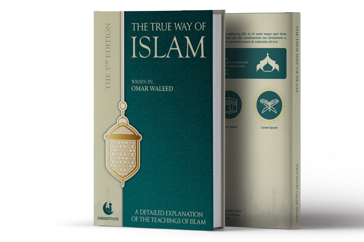 Download Free Islamic Book Cover Template Graphic By Owpictures Creative Fabrica for Cricut Explore, Silhouette and other cutting machines.