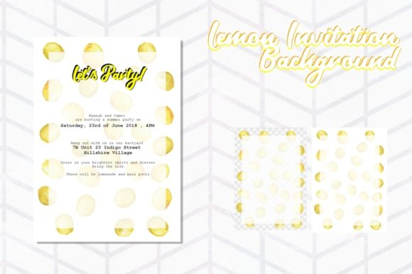 Print on Demand: Lemon Invitation Background Graphic Backgrounds By Tubiganart