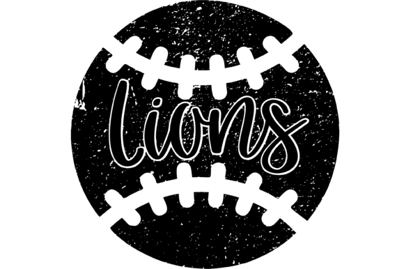 Download Free Lions Distressed Baseball Files Graphic By Am Digital Designs for Cricut Explore, Silhouette and other cutting machines.