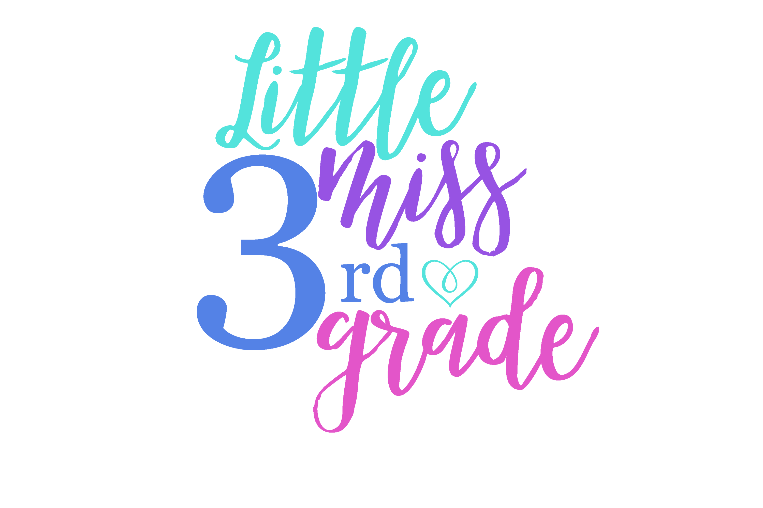 Download Free Little Miss 3rd Grade Graphic By Am Digital Designs Creative for Cricut Explore, Silhouette and other cutting machines.