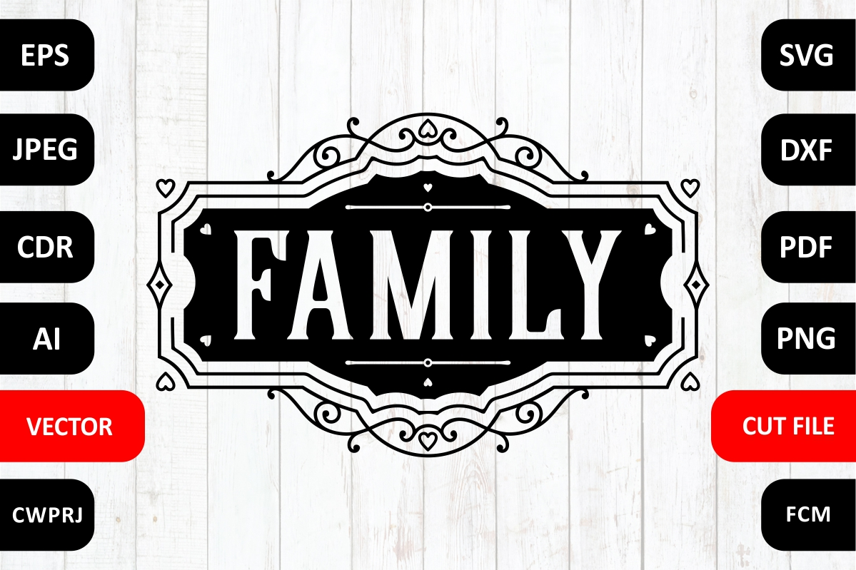 Download Free Love Family Graphic By Millerzoa Creative Fabrica for Cricut Explore, Silhouette and other cutting machines.