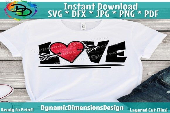 Print on Demand: Love Valentines Day Graphic Crafts By dynamicdimensions