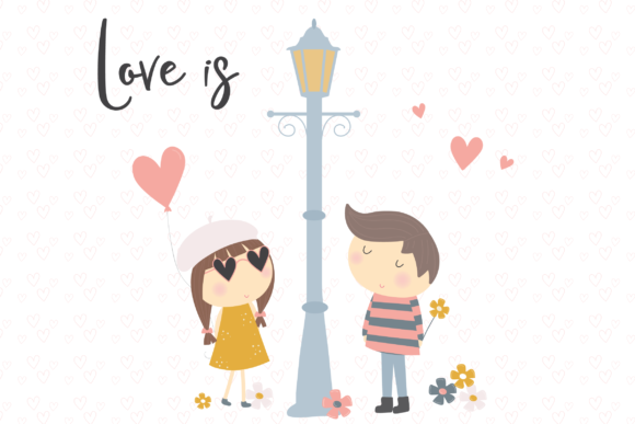 Print on Demand: Love is Graphic Illustrations By poppymoondesign