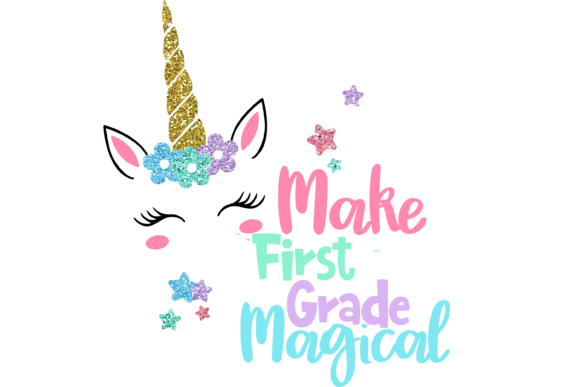 Print on Demand: Make First Grade Magical Graphic Print Templates By AM Digital Designs