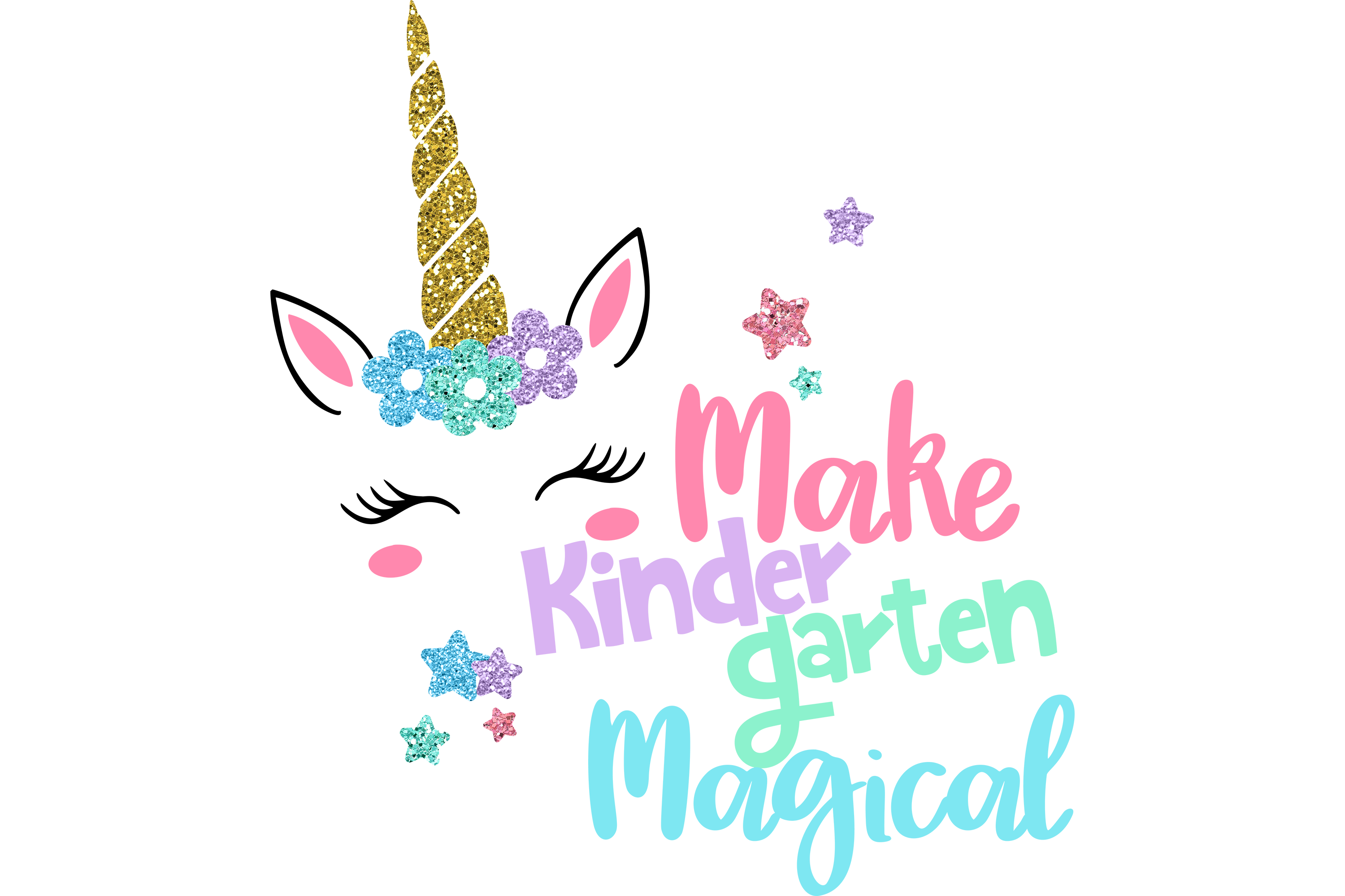 Download Free Make Kindergarten Magical Unicorn Graphic By Am Digital Designs for Cricut Explore, Silhouette and other cutting machines.