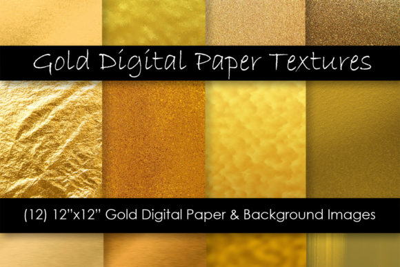 Metallic Gold Textures Graphic Textures By GJSArt