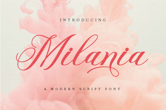Print on Demand: Milania Manuscrita Fuente Por Romie Creative