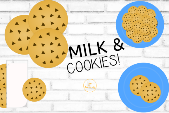 Download Free Milk And Cookies Clip Art Graphic By Jpjournalsandbooks for Cricut Explore, Silhouette and other cutting machines.