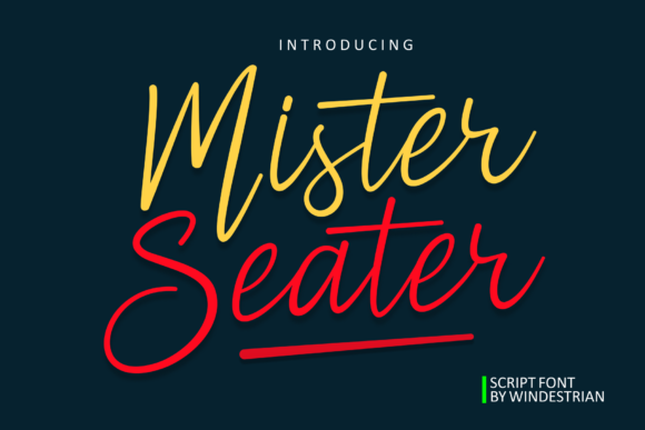 Print on Demand: Mister Seater Script & Handwritten Font By windestrian