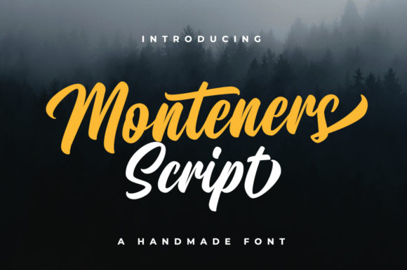 Print on Demand: Monteners Script & Handwritten Font By Suby Store