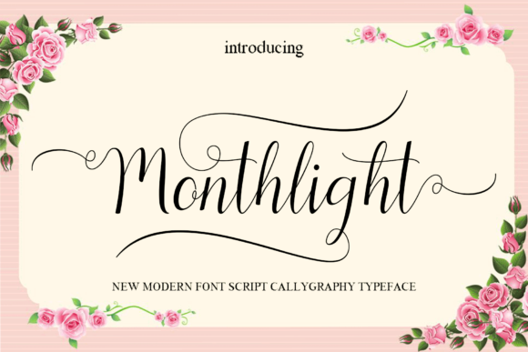 Print on Demand: Monthlight Script & Handwritten Font By MYdesign