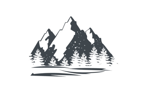 Download Free Mountain Vector Illustration Graphic By Ngabeivector Creative for Cricut Explore, Silhouette and other cutting machines.
