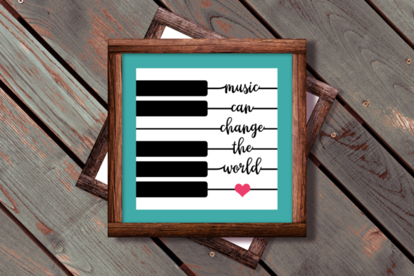 Music Can Change the World Piano Key Graphic Crafts By DesignedByGeeks