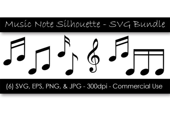 Music Note Silhouette Clipart Bundle Graphic