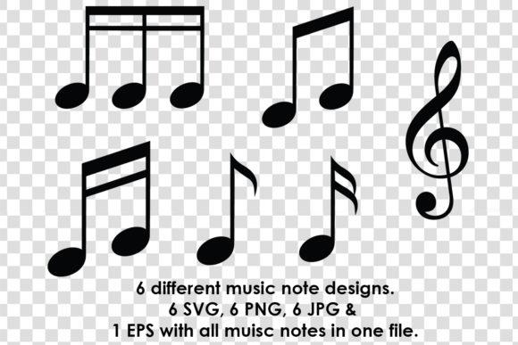 Download Free Music Note Silhouette Clipart Bundle Graphic By Gjsart SVG Cut Files