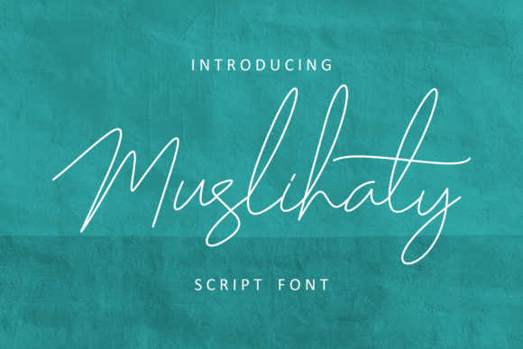 Print on Demand: Muslihaty Script & Handwritten Font By windestrian