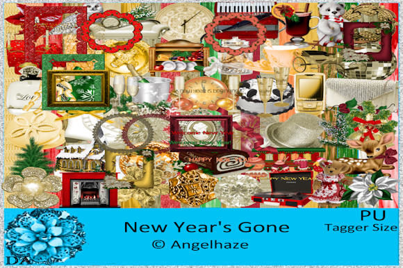 Print on Demand: New Year's Gone Grafik Web-Elemente von Digiscrap Angelhaze