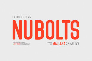 Print on Demand: Nubolts Sans Serif Font By Maulana Creative