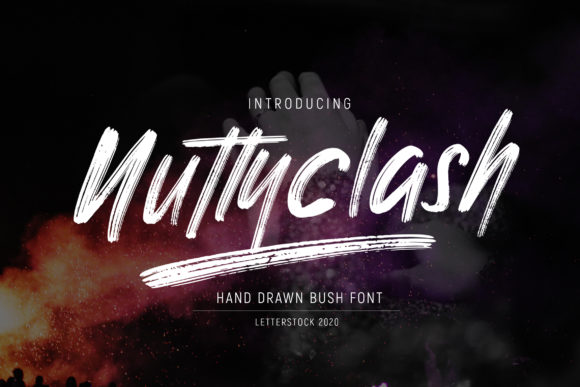 Print on Demand: Nuttyclash Display Font By gumacreative
