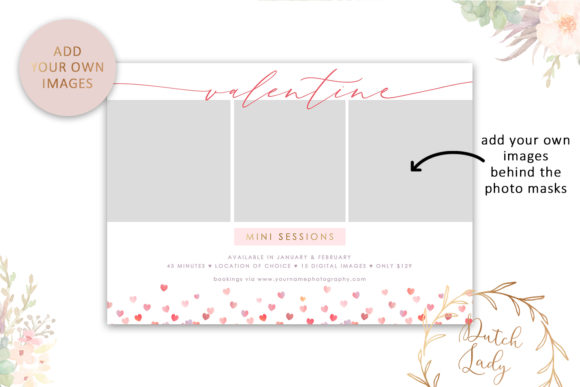 Download Free Psd Photo Session Card Template 51 Graphic By Daphnepopuliers for Cricut Explore, Silhouette and other cutting machines.