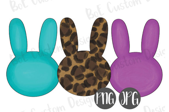 Download Free Painted Easter Bunnies Clipart Graphic By Boecustomdesign for Cricut Explore, Silhouette and other cutting machines.