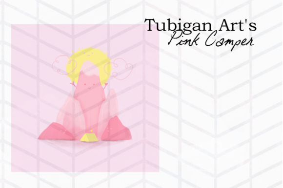 Print on Demand: Pink Camp Illustration in Pink Artsy Graphic Illustrations By Tubiganart
