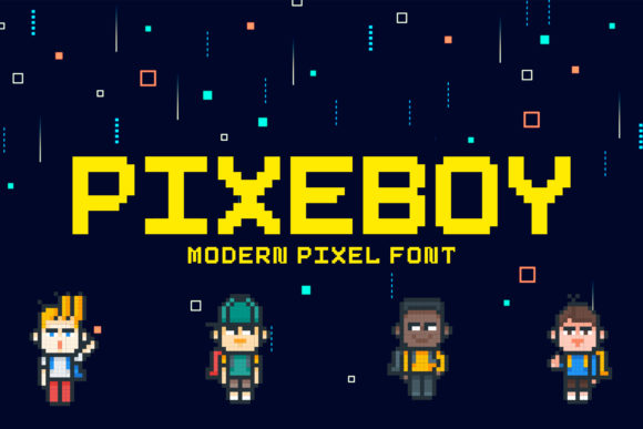 Print on Demand: Pixeboy Display Font By AbasCreative