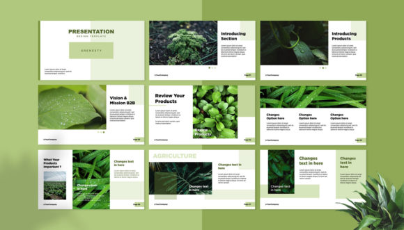 Presentation Design Template - Grenesty Graphic Presentation Templates By fadilahridwan69 - Image 2