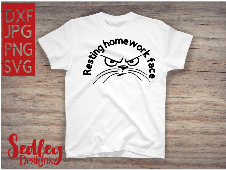 Download Free Resting Homework Face Graphic By Sedley Designs Creative Fabrica SVG Cut Files
