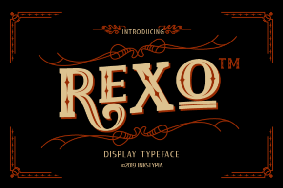 Print on Demand: Rexo Slab Serif Fuente Por inkstypia
