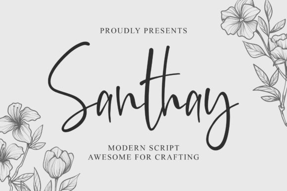 Print on Demand: Santhay Script & Handwritten Font By Blankids Studio
