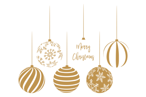 Silver and White Christmas Baubles Graphic Print Templates By AM Digital Designs