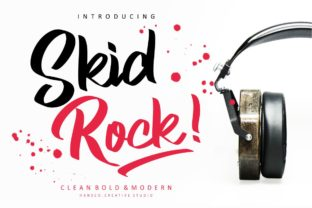 Print on Demand: Skid Rock Script & Handwritten Font By HansCo