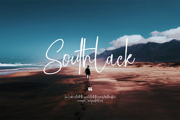 Print on Demand: Southlack Script & Handwritten Font By Nico Muslib