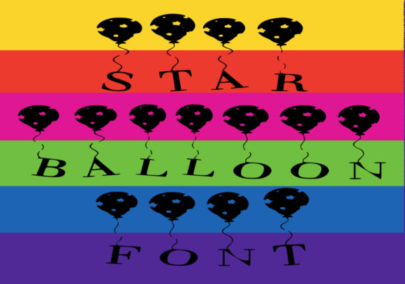 Print on Demand: Star Balloon Decorative Font By capeairforce - Image 2