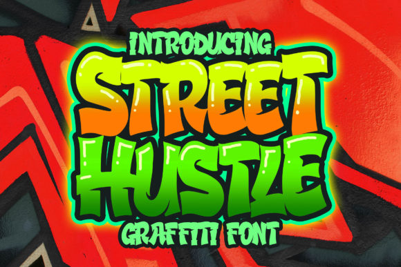 Print on Demand: Street Hustle Display Font By Blankids Studio