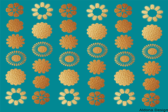 Print on Demand: Teel Gold Graphic Patterns By arts4busykids