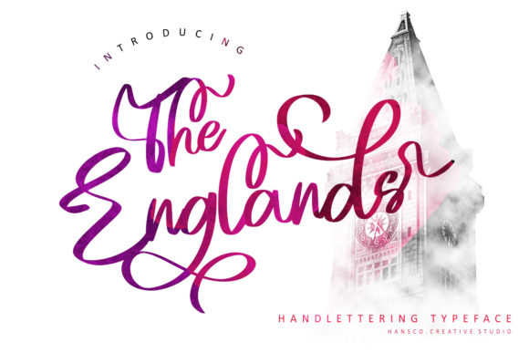Print on Demand: The Englands Script & Handwritten Font By HansCo