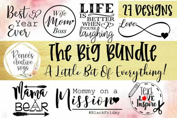 Print on Demand: The Huge Bundle of 2019 Graphic Crafts By ReneesCreativeSVGs - Image 2