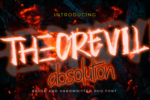 Print on Demand: Theorevil Absolution Display Font By Madatype Studio
