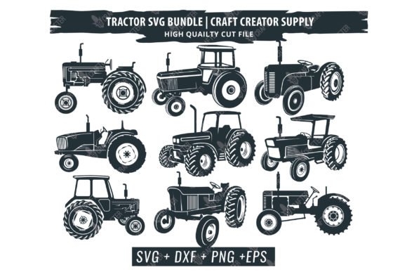 Print on Demand: Tractor Bundle Graphic Crafts By great19 - Image 1