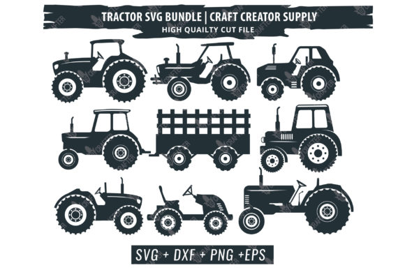 Print on Demand: Tractor Bundle Graphic Crafts By great19 - Image 2