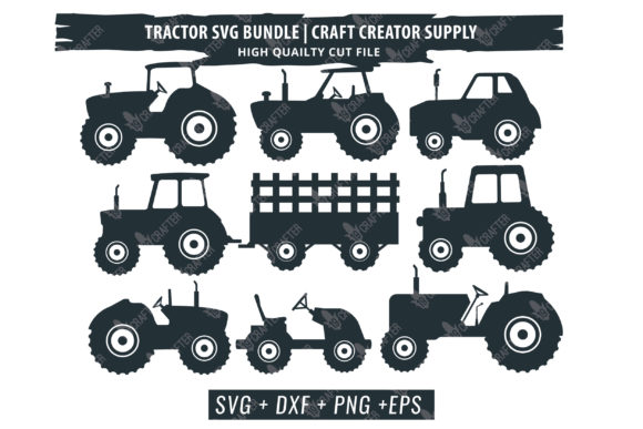 Print on Demand: Tractor Bundle Graphic Crafts By great19 - Image 3
