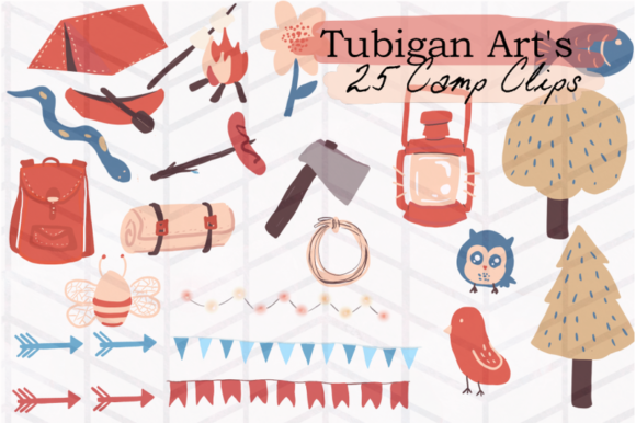 Print on Demand: Tubigan Art's Camp Clips Graphic Illustrations By Tubiganart - Image 2