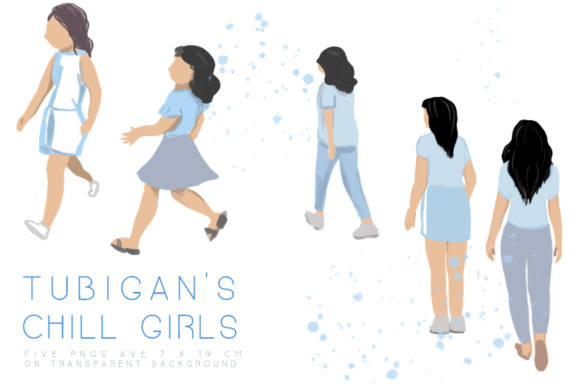 Print on Demand: Tubigan's Chill Fashion Girls Graphic Illustrations By Tubiganart - Image 1