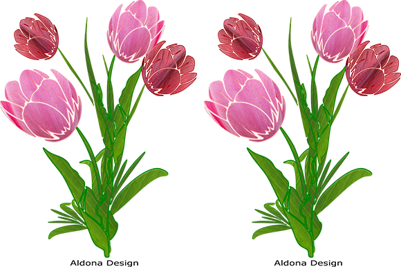 Print on Demand: Tulips Graphic Illustrations By arts4busykids